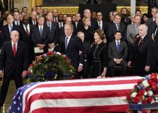 بالصور| مراسم وداع جورج بوش