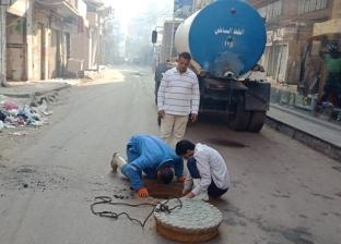 صور.. تطهير خطوط الصرف الصحي ورفع كفاءة ونظافة الشوارع في دسوق