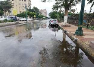 أمطار غزيرة في 3 مراكز بالمنيا وتكثيف حملات المرور تحسبا للحوادث