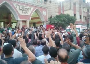 تشييع جثمان الشهيد المجند محمد عبد الكريم بسوهاج