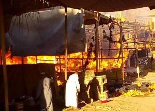 تفحم 26 سيارة و29 توكتوك إثر حريق بجراج في مطوبس