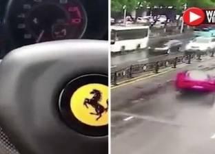 بالفيديو| صينية تحطم سيارة فيراري بعد لحظات من شرائها بسبب التباهي