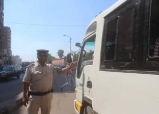 ضبط 121 سيارة نقل ثقيل مخالفة في المحافظات خلال 24 ساعة