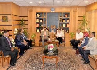 """جامعة المنصورة تبحث تفاصيل استضافة المؤتمر الدولي لجمعية """"استكشاف مصر"""""""