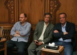 بكري ومسلم ووفد صحفي إماراتي في عزاء عبد العال الباقوري