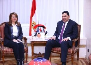 """وزيرة التضامن تستقبل الرئيس التنفيذي لـ""""المصرية للاتصالات"""""""