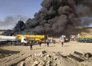 """الوحدة المحلية برأس سدر تدفع بـ7 سيارات مياه لإنهاء حريق """"عسل"""""""