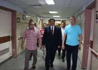 رئيس جامعة بني سويف يتفقد المستشفى الجامعي وكلية الطب
