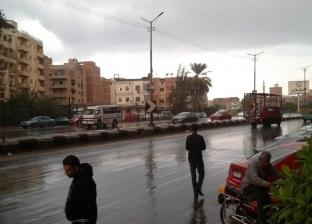 أمطار غزيرة في دمياط دون تأثير على حركة الصيد ببوغاز البرج
