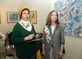 سفراء ومثقفون وإعلاميون في افتتاح معرض نازلي مدكور بقاعة بيكاسو