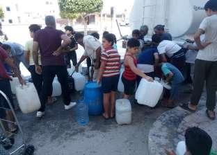 تسيير سيارات مياه لأحياء العريش بعد توقف عملية الضخ