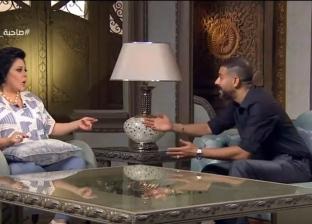 محمد فراج وإسعاد يونس في مشهد تمثيلي ببرنامج صاحبة السعادة