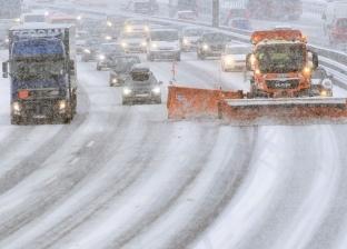 بالفيديو  اصطدام 40 سيارة بسبب الجليد في موسكو