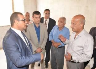 """رئيس جامعة المنصورة يتفقد التوسعات الجديدة بـ""""طب الأسنان"""""""