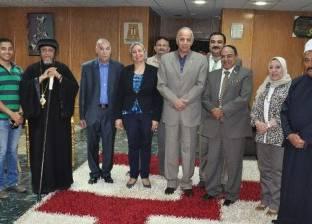 محافظ الوادي الجديد يستقبل رئيس الإذاعة المصرية
