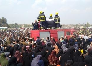 تشييع جنازة خالد شبل شهيد حادث تصادم الإسكندرية الصحراوي في الجيزة