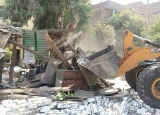 حي جنوب الجيزة يواصل حملة إزالة التعديات على ترعة الزمر