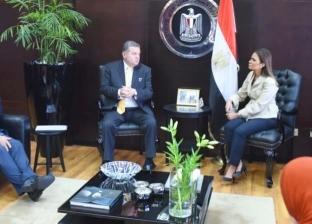 """وزيرا """"قطاع الأعمال والاستثمار"""" يبحثان التعاون مع سفير سويسرا"""