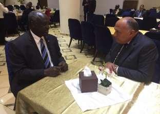شكري يلتقي وزير الدفاع بجنوب السودان لبحث مبادرة الحوار الوطني