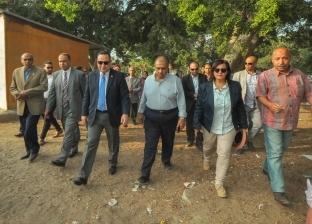 """محافظ الإسكندرية ووزير الزراعة يتفقدان حديقة """"أنطونياديس"""" التاريخية"""