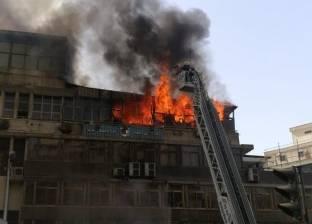 رئيس حي الأزبكية: الانتهاء من شفط مياه حريق نقابة التجاريين