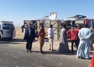 إصابة 31 سودانيا في حادث انقلاب أتوبيس بالأقصر