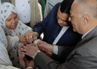 محافظ البحيرة يفتتح الحملة القومية للتطعيم ضد مرض شلل الأطفال