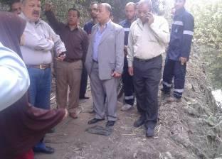 """رئيس """"مياه الفيوم"""": مزارعو """"فيدمين"""" يغلقون خطوط الصرف الصحي بالحجارة"""