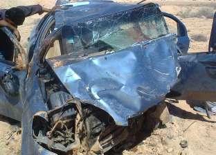 """مصرع شخص وإصابة 7 في حادث انقلاب سيارة بمحور """"الضبعة-القاهرة"""""""