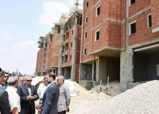 محافظ الشرقية يتفقد أعمال إنشاء المستشفى العسكري