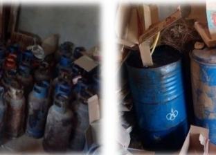 ضبط 1000 لتر سولار و99 أسطوانة بوتاجاز داخل مخزن غير مرخص ببرج العرب