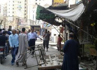 بالصور| حملة موسعة لإزالة إشغالات محطة عزبة النخل وشارعين بالمرج