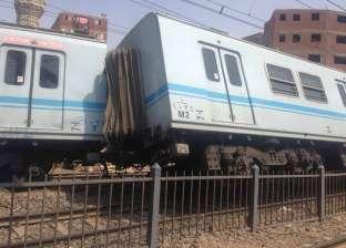 3 فيديوهات لخروج 5 عربات مترو عن القضبان في محطة المرج