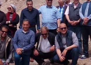 """وفد من """"سياحة النواب"""" يزور ميناء طابا البري وقلعة صلاح الدين"""