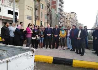 بالصور| انتهاء أعمال رفع كفاءة كوبري الجامعة بحي وسط الإسكندرية