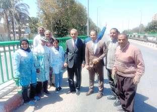 محافظ أسيوط يتفقد أعمال التطوير بكوبري فيصل وميدان جمال عبدالناصر
