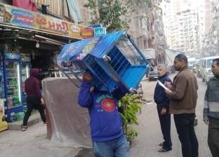 """حملة مكبرة لإزالة الإشغالات بحي """"منتزه أول"""" شرق الإسكندرية"""