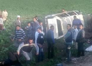 """6 مصابين بينهم طفلان في """"ميكروباص"""" بالمنوفية"""