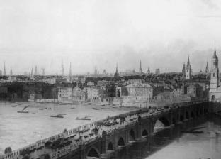 بالفيديو| لهذا السبب.. قطيع من الخراف يغزو جسر قديم في لندن