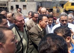 رئيس هيئة السكة الحديد يتفقد ورش أبو غاطس لتشغيل وتجهيز القطارات