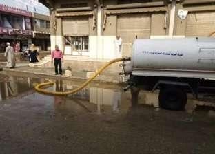 صور  بعد موجة الطقس السيئ.. سحب مياه الأمطار من شوارع الزرقا في دمياط