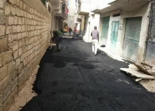 حي منتزه ثان بالإسكندرية يستكمل أعمال تمهيد الطرق بنطاق الحي