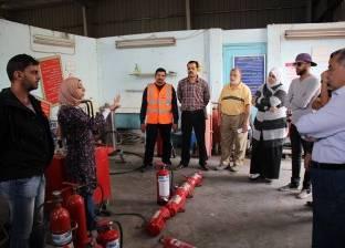 بالصور| إدارة السلامة والصحة المهنية بميناء دمياط تجري تدريبا على مكافحة الحريق
