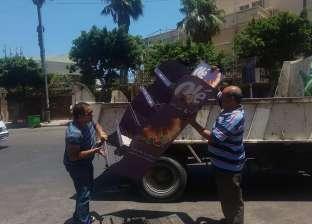 حملة لرفع إشغالات الطريق بحي وسط الإسكندرية