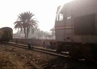 """تعطل حركة """"السكة الحديد"""" ساعة بقليوب بسبب انفصال جرار عن """"قطار منوف"""""""