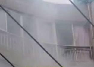 إصابة شخصين في حريق روف عقار بدمياط والدفع بـ11 سيارة إطفاء