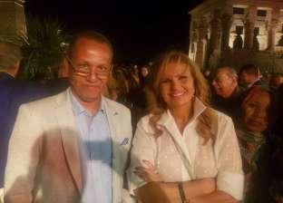"""جمال مبارك ويسرا وشريهان في حفل زفاف نجل رجل أعمال بمعبد """"فيلة"""""""