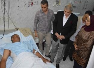 رئيس مركز ملوي بالمنيا يتفقد الخدمات الطبية بالمستشفى العام