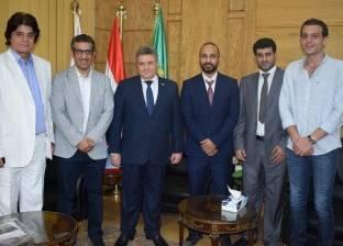 رئيس جامعة بنها يستقبل وفدا من طلاب الدراسات العليا الكويتيين