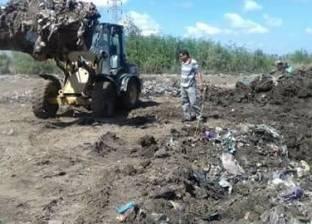 إزالة حالة تعد على أرض زراعية في دمياط